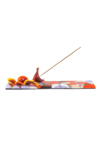 Red dragon incense holder
