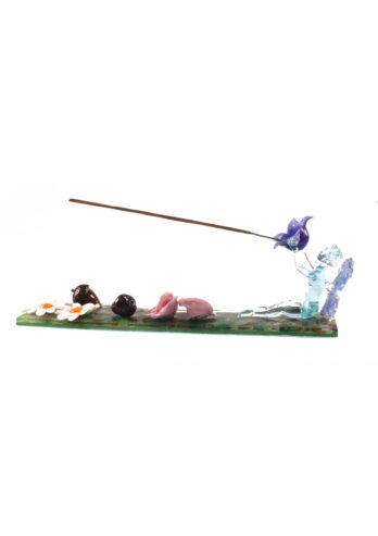 Fairy with daisies incense holder