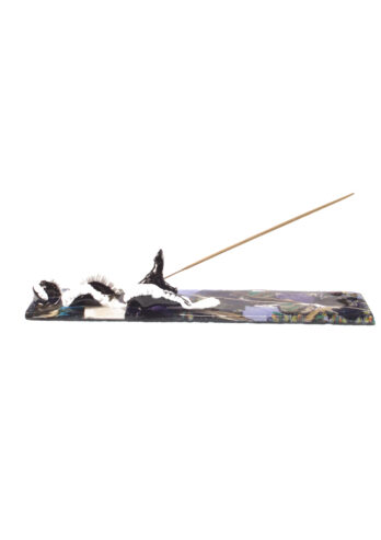 Black dragon incense holder